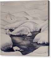 Snow Pool Acrylic Print