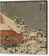 Snow Scene At Sens Ji Temple At Kinry Zan In The Eastern Capital Acrylic Print