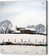 Snow Scene Barkisland Acrylic Print