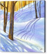 Snow-shadows Acrylic Print