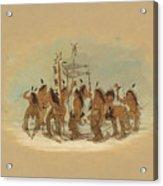 Snow Shoe Dance. Ojibbeway Acrylic Print