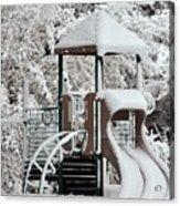 Snow Slide Acrylic Print