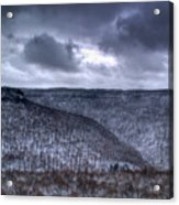 Snow Storm In The Mountains Acrylic Print