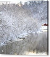 Snow Storm Acrylic Print by Joan Powell