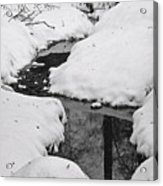 Snow Stream 2 Acrylic Print