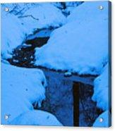 Snow Stream Acrylic Print