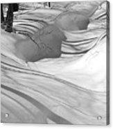 Snow Swirls Acrylic Print