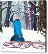 Snow Trance Acrylic Print