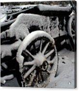 Snow Wagon Acrylic Print