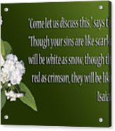 Snow White Flowers Is. 1v18 Acrylic Print
