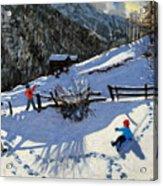 Snowballers Acrylic Print