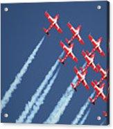 Snowbirds In Flight Acrylic Print