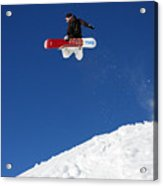 Snowboarder In Serre Chevalier France Acrylic Print