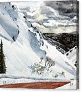 Snowboarding Acrylic Print