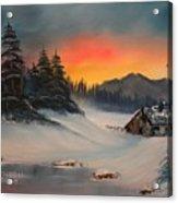 Snowbound Sunrise Acrylic Print