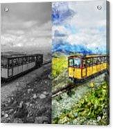 Snowdon Train Acrylic Print
