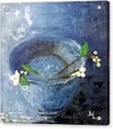 Snowdrops Bowl Acrylic Print