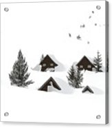 Snowed In Acrylic Print by Gareth Davies