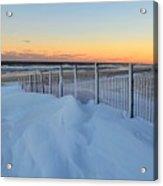 Snowfall At The Shore Acrylic Print