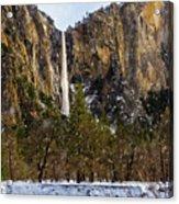 Snowfall Bridalveil Falls Acrylic Print