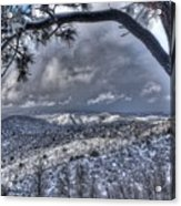 Snowfall Covers Northern Arizona For Christmas Acrylic Print