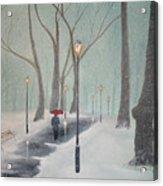 Snowfall In The Park Acrylic Print