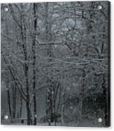 Snowfall On The Creek Acrylic Print