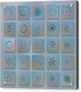 Snowflake Collage - Season 2013 Bright Crystals Acrylic Print