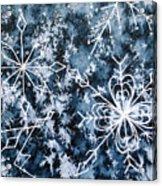 Snowflake Greetings Acrylic Print