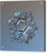 Snowflake Photo - Cold Metal Acrylic Print by Alexey Kljatov