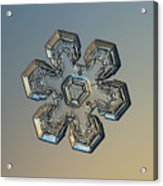 Snowflake Photo - Massive Gold Acrylic Print by Alexey Kljatov