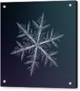Snowflake Photo - Neon Acrylic Print
