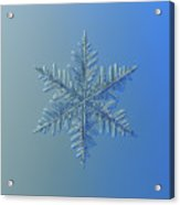 Snowflake Photo - Winter Is Coming Acrylic Print