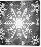 Snowflakes Black And White Acrylic Print
