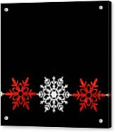 Snowflakes In A Row Acrylic Print