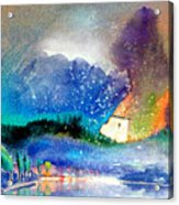 Snowing All Over Spain Acrylic Print
