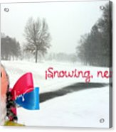 Snowing Nevando Acrylic Print