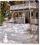 Snowman Big Bear California Acrylic Print
