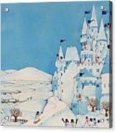 Snowman Castle Acrylic Print