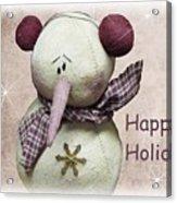 Snowman Greeting Card Acrylic Print