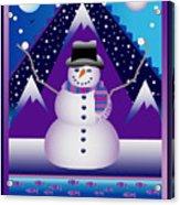 Snowman Juggler Acrylic Print