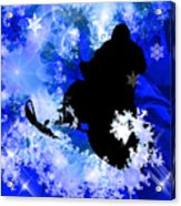 Snowmobiling In The Avalanche  Acrylic Print