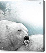 Snowstorm Kiss Acrylic Print