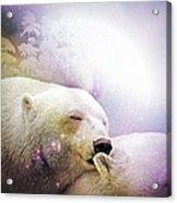 Snowstorm Kisses Acrylic Print