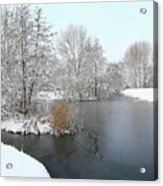 Chilled Scenery Around Frozen Canals Acrylic Print
