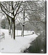 Walking On A Snowy Area Acrylic Print