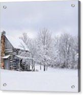 Snowy Cabin Acrylic Print by Benanne Stiens