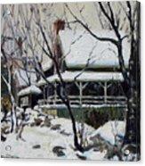 Snowy Cottage Acrylic Print
