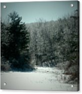Snowy Creek Bend Acrylic Print