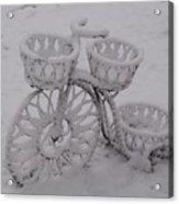 Snowy Cycle Wheel Acrylic Print